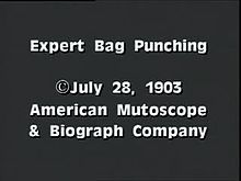 Файл:Expert bag punching (1903).webm