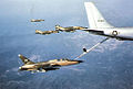 F-105 Wild Weasels and F-4 Phantoms refuel at a KC-135 on a mission to North Vietnam.jpg