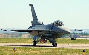 Rocky Mountain Metropolitan Airport - F-16 taxiing at Rocky Mountain Metropolitan Airport