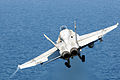 F-A-18C Hornet launches from USS George H.W. Bush 140922-N-CZ979-004.jpg