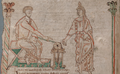 F11.v. The author being instructed by his Muse - NLW MS 735C.png