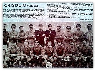FC Bihor Oradea - Image: FC Bihor 1966 1967