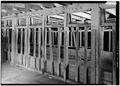 FIRST FLOOR, CATTLE STALLS - Steele Brothers Dairies, Cloverdale Ranch Barn, Pescadero, San Mateo County, CA HABS CAL,41-PESC.V,2-C-6.tif
