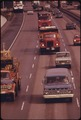 FREEWAY TRAFFIC WAS NOT AS HEAVY IN MARCH, 1974, AS BEFORE THE GASOLINE SHORTAGE. NON-ESSENTIAL COMMERCIAL TRAFFIC AS... - NARA - 555505.tif