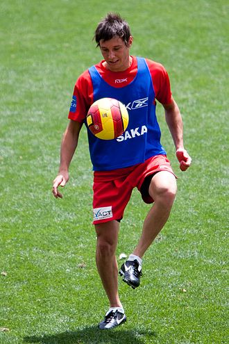 Fabian Barbiero - Barbiero training with Adelaide United in 2010
