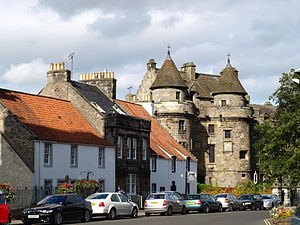 Royal burgh - Falkland in Fife, created a royal burgh in 1458
