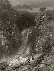 Fall of the Rheidol: near the Devil's Bridge