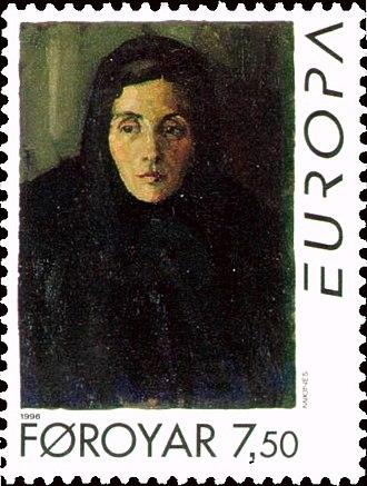 Sámal Joensen-Mikines - Image: Faroe stamp 289 europe mikineskona