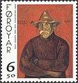 Faroe stamp 335 hans hansen - man.jpg