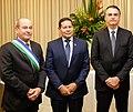 Fernando Azevedo e Silva, Hamilton Mourão e Jair Bolsonaro (cropped).jpg