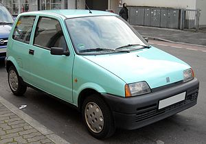 1995 Fiat Cinquecento Young (704 cc engine)