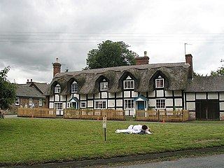 Brampton Bryan village in the United Kingdom
