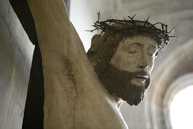 The head of Christ. Crucifix in Notre Dame church Bar-le-Duc. Photograph courtesy of Clement Guillaume Figure of Christ in Notre Dame Church Bar-le-Duc.jpg
