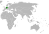 Lage von Deutschland und Fidschi