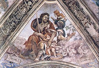 Lilith - Adam clutches a child in the presence of the child-snatcher Lilith
