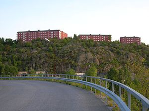 Nacka Municipality - Image: Finnberget Nacka from Kvarnholmen
