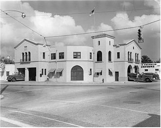 Fire Station No. 2 (Miami, Florida) - Image: Firehouse II, Miami 1926