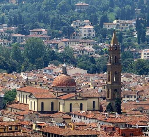Firenze, chiesa di Santo Spirito da cupola Duomo