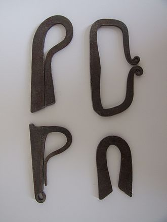 Fire striker - Assorted reproduction firesteels typical of Roman to medieval period