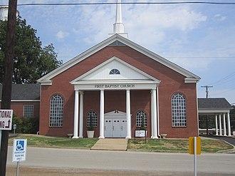 Hallsville, Texas - First Baptist Church in Hallsville