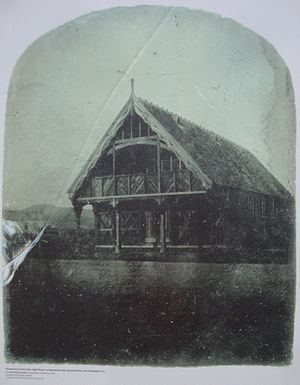 Town of Christchurch by-election, 1860 - The meeting was held in a room adjoining Christchurch's (first) Town Hall in High Street