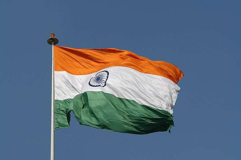 File:Flag of India, New Delhi.jpg