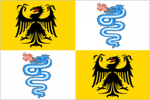 Battle of Ghedi - Image: Flag of the Duchy of Milan