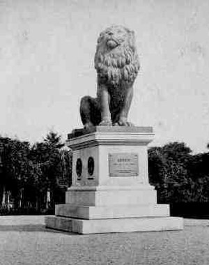 Isted Lion - The Isted Lion in Flensburg c. 1864