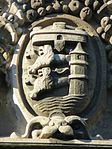 Flensburger Wappen am Hauptportal der Auguste-Viktoria-Schule (Flensburg), Bild 1.JPG