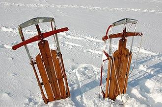 Flexible Flyer - Image: Flexible Flyers in Snow