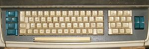 Function key - Flexowriter keyboard (1968) with 13 function keys on the right.