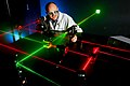 Flickr - Official U.S. Navy Imagery - An electronics engineer at Naval Surface Warfare Center, Corona Division, prepares alignment of various optical components using eye-safe visible lasers..jpg