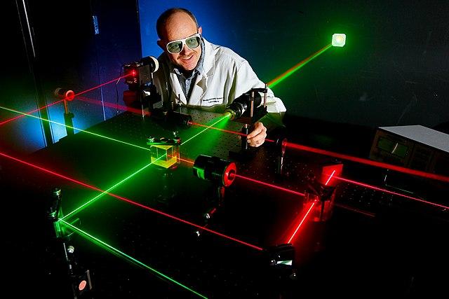 Laser in einem Labor