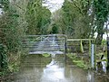 Flooded farm track at West Woodlands - geograph.org.uk - 1169096.jpg