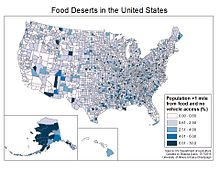 Food Deserts By Country Wikipedia - Food desert map us