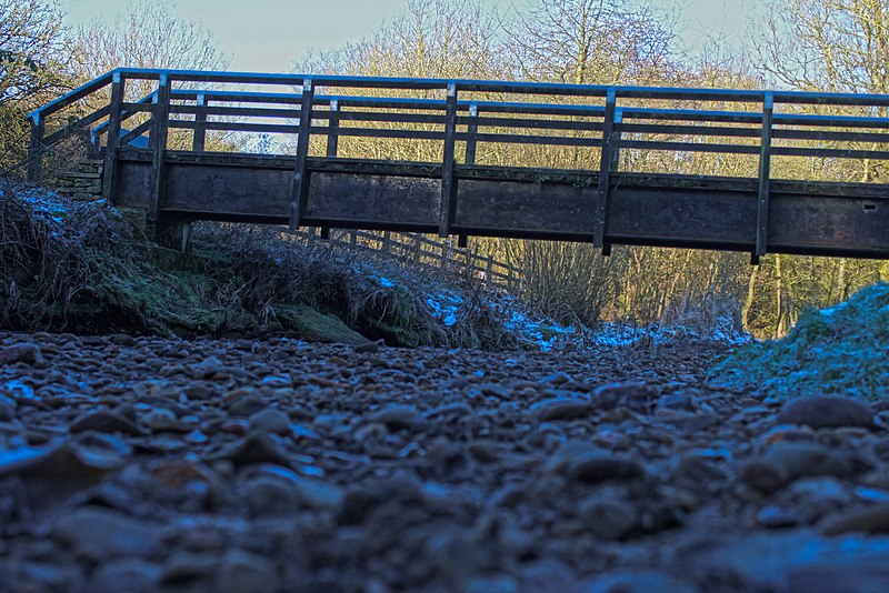 File:Foot bridge in daisy nook.jpg