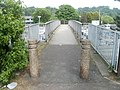 Footbridge to Tesco Pontypool - geograph.org.uk - 2438225.jpg