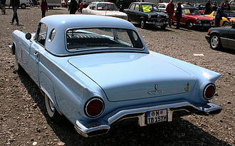"Hardtop - Detachable hardtop with ""porthole"" side windows on a 1957 Ford Thunderbird"