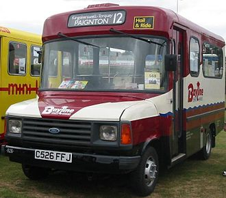 Bus manufacturing - A 1986 van derived Ford Transit minibus bodied by Carlyle