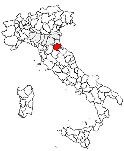 Location of Province of Forlì-Cesena