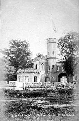Fort Belvedere, Surrey - Postcard of Fort Belvedere in the early 1900s.