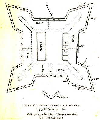 Prince of Wales Fort - Image: Fort Prince of Wales plan B An Q Vieux Montréal 06M P750S1P7552 0002 crop