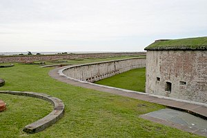Crystal Coast - Entrance to Fort Macon