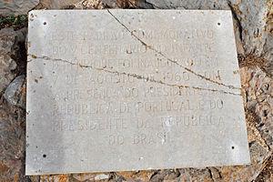 Sagres (Vila do Bispo) - A commemorative plaque marking the 5th century of Henry the Navigator