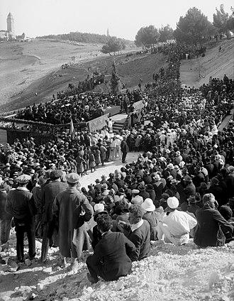 1925 in Mandatory Palestine - The opening ceremony of The Hebrew University of Jerusalem, 1 April 1925