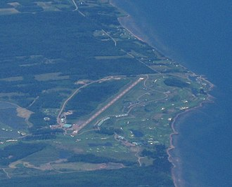 Fox Harbour Airport - Aerial view along Runway 33