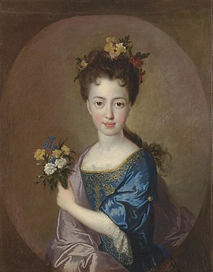 Louisa Maria Stuart - Portrait of Louisa Maria by François de Troy, about 1705