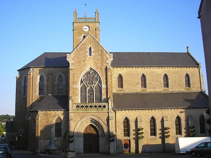 La Haye-Pesnel (Normandie, France). L'église Sainte-Madeleine.