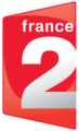 Logo of France 2 from 7 April 2008 till 29 January 2018