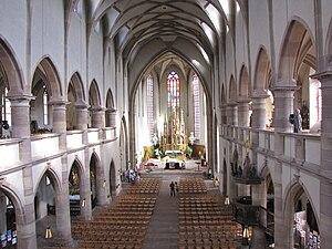 Jesuit Church, Molsheim - Image: France Molsheim Eglise des Jesuites Nef